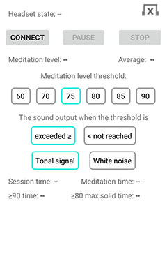 """EEG Meditation"" Android app screenshot 1"
