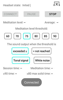 """EEG Meditation"" Android app screenshot 2"