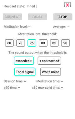 """EEG Meditation"" Android app screenshot 3"