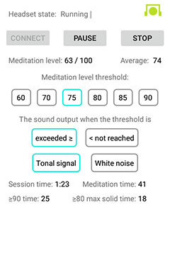 """EEG Meditation"" Android app screenshot 4"