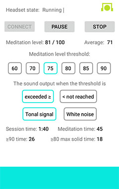 """EEG Meditation"" Android app screenshot 5"