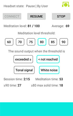 """EEG Meditation"" Android app screenshot 6"