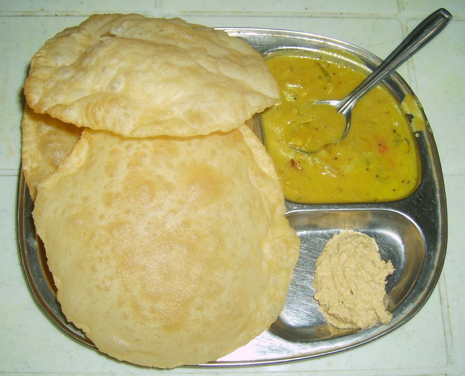 Индийские лепешки пури рецепт с картошкой