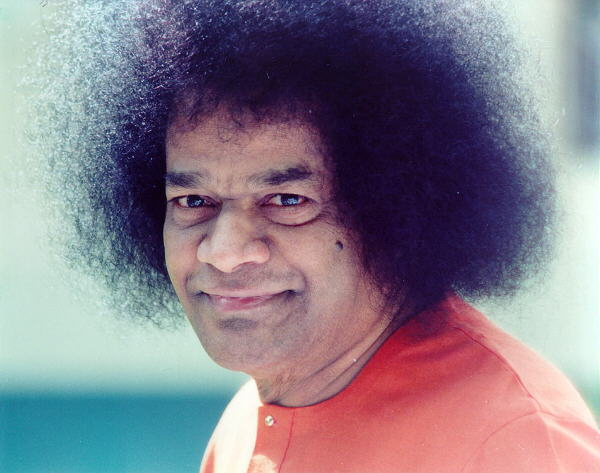 Сатья Саи Баба - Sathya Sai Baba's beautiful photo, made by a student
