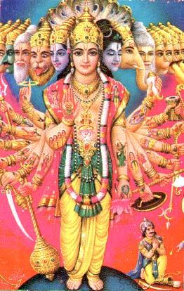 Шри Вират Сварупа, символическое изображение Вселенского Образа Господа Кришны (Нараяны)